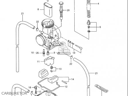Suzuki Rm250 1993-1995 (usa) parts list partsmanual partsfiche