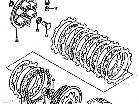 Suzuki Rm250 1994 (r) parts list partsmanual partsfiche