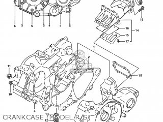 Suzuki RM250 1994 (R) USA (E03) parts lists and schematics