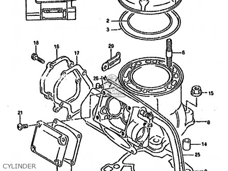 Suzuki Rm250 1995 (s) parts list partsmanual partsfiche