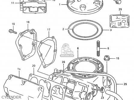 Suzuki RM250 1997 (V) (E02 E04 E24) parts lists and schematics