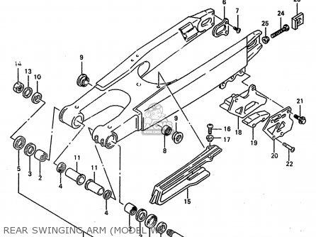 Suzuki RM250 1997 (V) (E02 E04 E24) parts lists and schematics