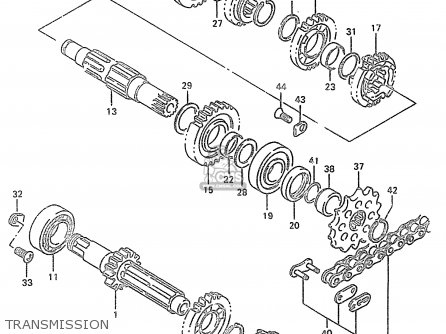 Suzuki Rm250 1997 (v) parts list partsmanual partsfiche
