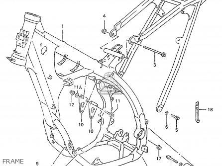 Suzuki RM250 1998 (W) (E02 E04 E24 P37) parts lists and