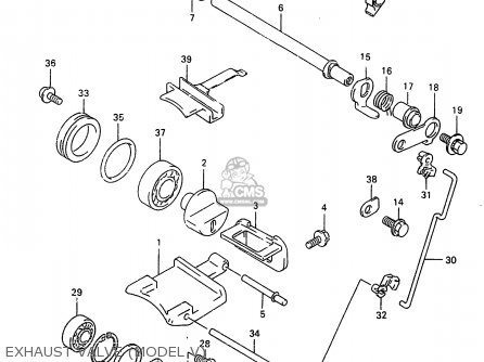 Suzuki Rm250 1998 (w) parts list partsmanual partsfiche