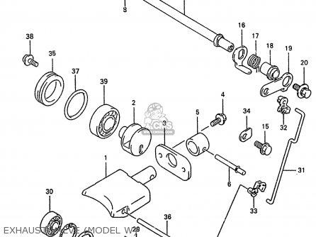 Suzuki Rm250 1999 (x) parts list partsmanual partsfiche