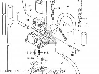 Suzuki Rm250 1999 (x) Usa (e03) parts list partsmanual