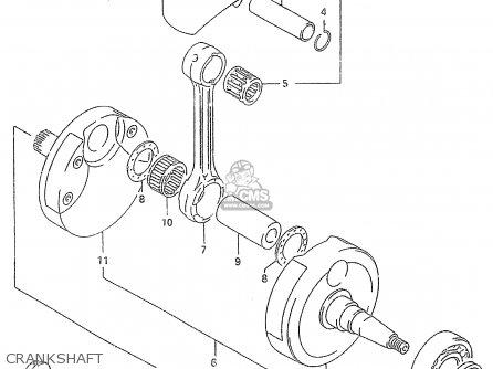 Suzuki RM250 2000 (Y) parts lists and schematics