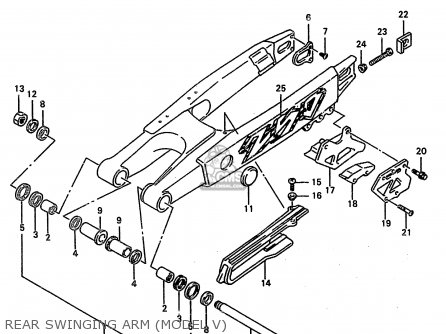 Suzuki Rm250 2000 (y) parts list partsmanual partsfiche