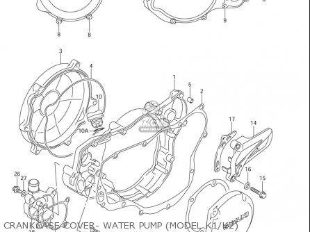 Suzuki Rm250 2001-2005 (usa) parts list partsmanual partsfiche
