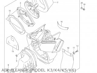 Suzuki Rm250 2001 (k1) Usa (e03) parts list partsmanual