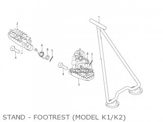 Suzuki RM250 2001 (K1) USA (E03) parts lists and schematics