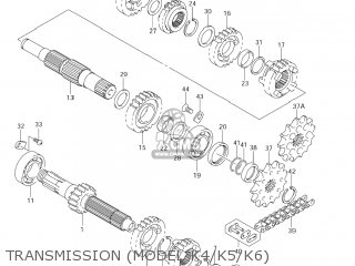 Suzuki RM250 2001 (K1) USA (E03) parts lists and schematics