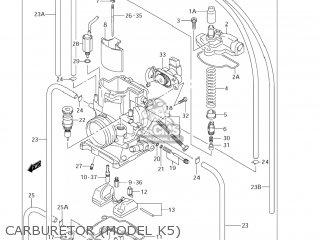 Suzuki RM250 2005 (K5) USA (E03) parts lists and schematics