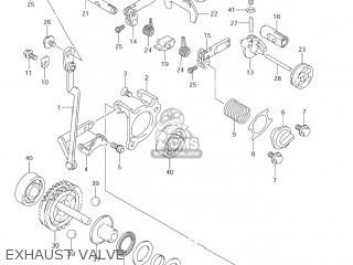 Suzuki Rm250 2007 (k7) Usa (e03) parts list partsmanual