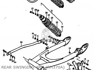 Suzuki Rm370 1976 (a) Usa (e03) parts list partsmanual