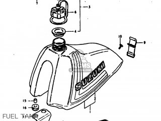 Suzuki RM400 1979 (N) USA (E03) parts lists and schematics