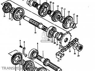 Suzuki RM400 1979 (N) USA (E03) parts lists and schematics