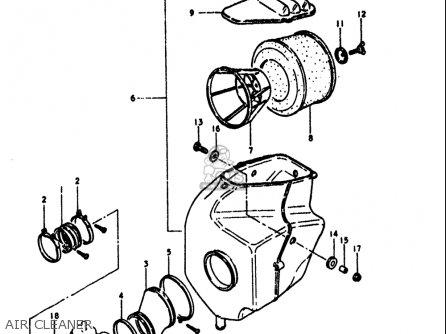 Suzuki Rm400 1979 (usa) parts list partsmanual partsfiche