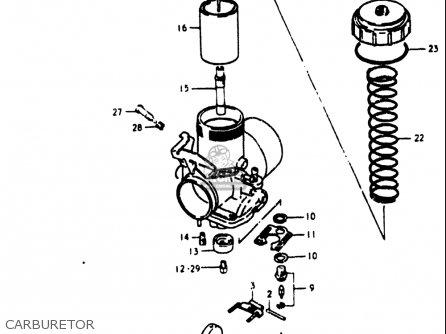 Suzuki Rm400 1980 (usa) parts list partsmanual partsfiche