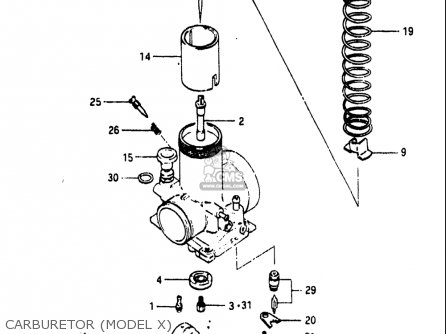 Suzuki Rm465 1981-1982 (usa) parts list partsmanual partsfiche