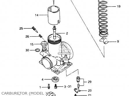 Suzuki Rm465 1981 (x) parts list partsmanual partsfiche