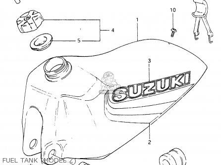 Suzuki RM465 1981 (X) parts lists and schematics