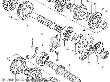 Suzuki RM465 1981 (X) parts lists and schematics