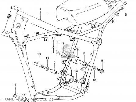 Suzuki RM465 1982 (Z) parts lists and schematics