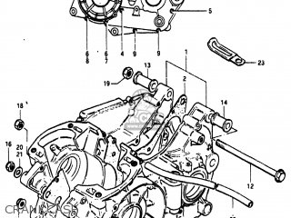 Suzuki RM465 1982 (Z) USA (E03) parts lists and schematics