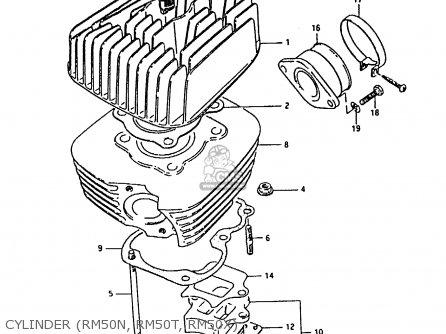 Suzuki Rm50 1979 (n) parts list partsmanual partsfiche