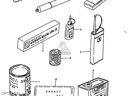 Suzuki Rm50 1980 (t) parts list partsmanual partsfiche