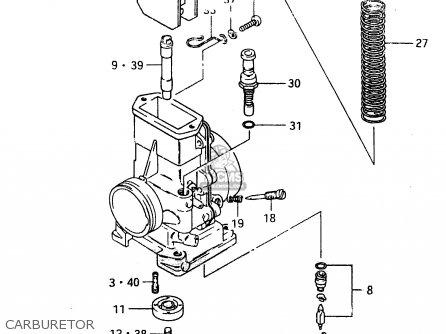 Suzuki Rm500 1983 (d) parts list partsmanual partsfiche