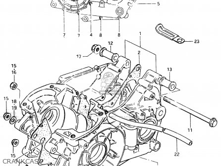Suzuki Rm500 1984 (e) parts list partsmanual partsfiche