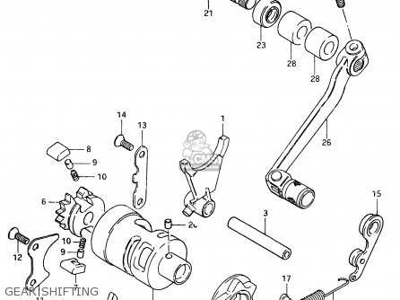 Suzuki RM500 1984 (E) parts lists and schematics