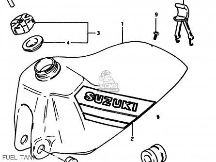 Suzuki Rm500 1985 (f) parts list partsmanual partsfiche