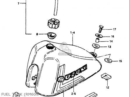 Suzuki Rm60 1979-1981 (usa) parts list partsmanual partsfiche