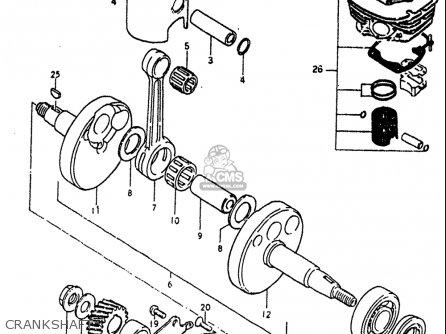 Suzuki Rm60 1982-1983 (usa) parts list partsmanual partsfiche
