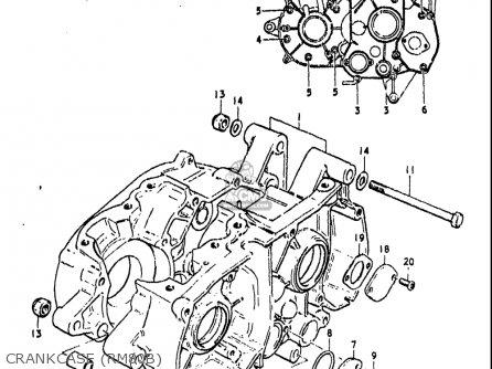 Suzuki Rm80 1977-1979 (usa) parts list partsmanual partsfiche