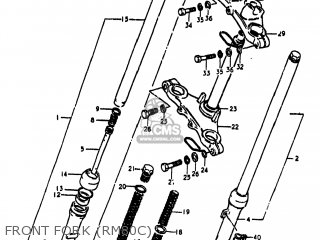 Suzuki RM80 1977 (B) USA (E03) parts lists and schematics