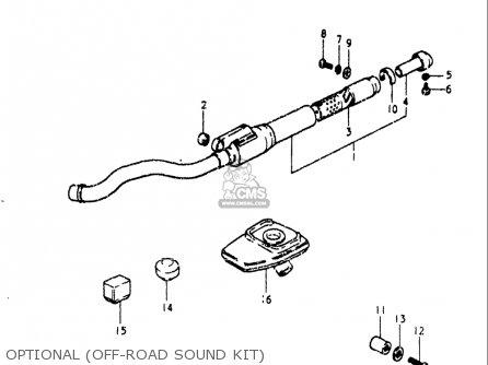 Suzuki Rm80 1980-1981 (usa) parts list partsmanual partsfiche