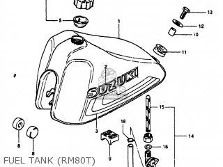 Suzuki RM80 1980 (T) USA (E03) parts lists and schematics