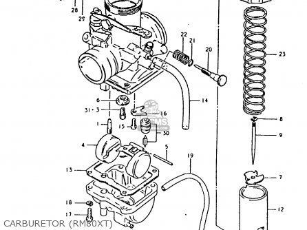 Suzuki Rm80 1981 (xx) parts list partsmanual partsfiche