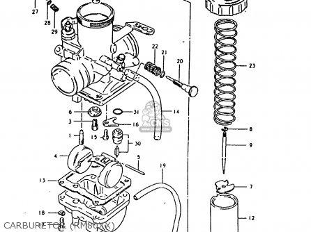 Suzuki Rm80 1981 (xx) parts list partsmanual partsfiche