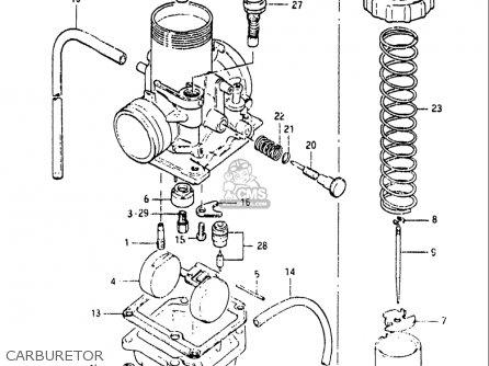 Suzuki Rm80 1982 (usa) parts list partsmanual partsfiche
