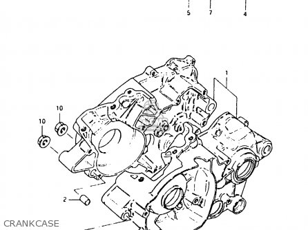Suzuki Rm80 1982 (xz) parts list partsmanual partsfiche