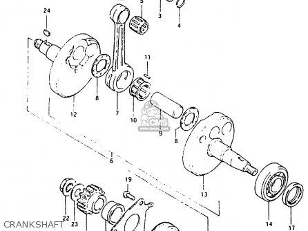 Suzuki Rm80 1982 (xz) parts list partsmanual partsfiche