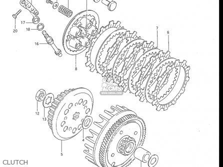Suzuki Rm80 1983-1985 (d) (e) (f) Usa parts list