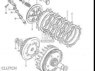 Suzuki Rm80 1983 (d) Usa (e03) parts list partsmanual