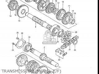 Suzuki Rm80 1984 (e) Usa (e03) parts list partsmanual